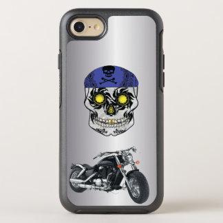 Funda OtterBox Symmetry Para iPhone 8/7 Caja de plata del teléfono del cráneo del caramelo