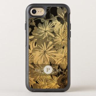 Funda OtterBox Symmetry Para iPhone 8/7 Caso de lujo floral del monograma del círculo de