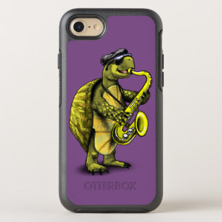 Funda OtterBox Symmetry Para iPhone 8/7 Caso de Otterbox de la tortuga del saxofón
