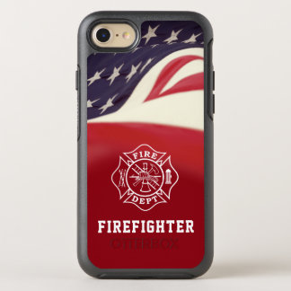Funda OtterBox Symmetry Para iPhone 8/7 Caso del iPhone de la cruz maltesa del bombero