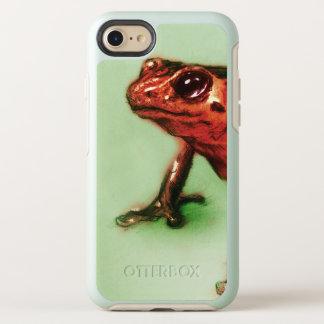 Funda OtterBox Symmetry Para iPhone 8/7 caso del vintage del iPhone - rana