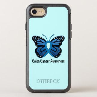 Funda OtterBox Symmetry Para iPhone 8/7 Conciencia del cáncer de colon: Mariposa