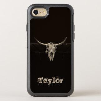 Funda OtterBox Symmetry Para iPhone 8/7 Cráneo rústico del búfalo de la sepia con los