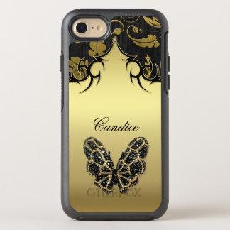 Funda OtterBox Symmetry Para iPhone 8/7 Damasco Jeweled de la mariposa