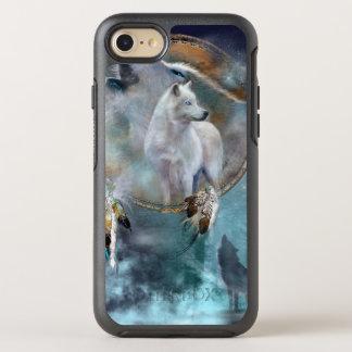Funda OtterBox Symmetry Para iPhone 8/7 Dreamcatcher del lobo - lobo blanco - arte del