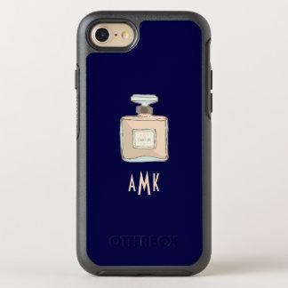 Funda OtterBox Symmetry Para iPhone 8/7 Ejemplo de la botella de Parfum con iniciales del