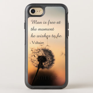 Funda OtterBox Symmetry Para iPhone 8/7 El hombre es cita libre de Voltaire