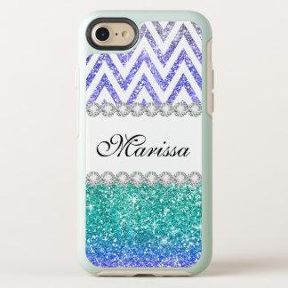 Funda OtterBox Symmetry Para iPhone 8/7 Galones púrpuras del blanco de Ombre del purpurina