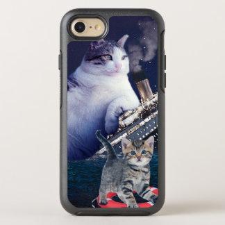 Funda OtterBox Symmetry Para iPhone 8/7 - Gato gordo - gatos divertidos titánicos - gato