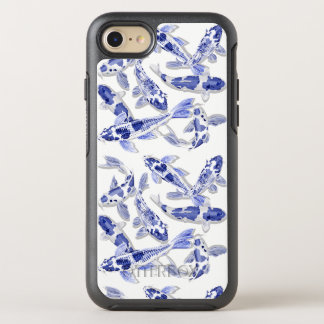Funda OtterBox Symmetry Para iPhone 8/7 Koi azul y blanco
