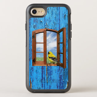 Funda OtterBox Symmetry Para iPhone 8/7 ¡La mosca libera! Caso de Iphone del pájaro