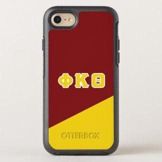 Funda OtterBox Symmetry Para iPhone 8/7 Letras del Griego de la theta el   de Kappa de la