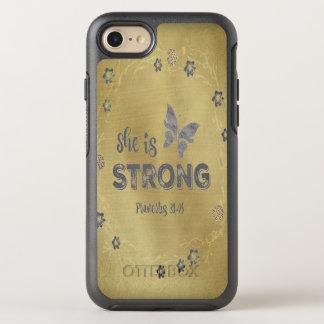 Funda OtterBox Symmetry Para iPhone 8/7 Los proverbios ella es cita fuerte