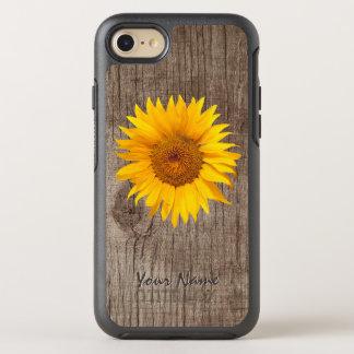 Funda OtterBox Symmetry Para iPhone 8/7 Madera rústica del granero del girasol con el