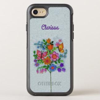 Funda OtterBox Symmetry Para iPhone 8/7 Mariposas bonitas del ramo de la flor de los