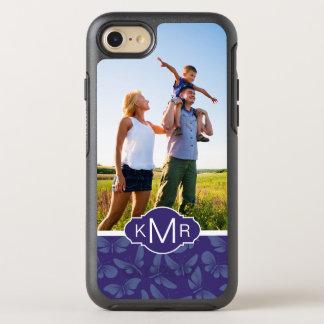 Funda OtterBox Symmetry Para iPhone 8/7 Mariposas de la púrpura del monograma el |