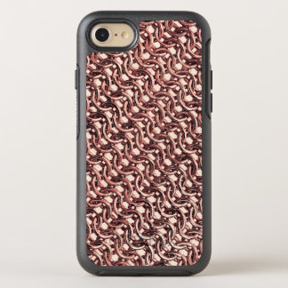 Funda OtterBox Symmetry Para iPhone 8/7 Mirada metálica del oro de Chainmail de la