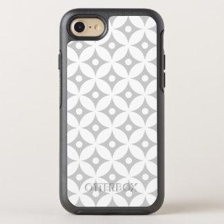 Funda OtterBox Symmetry Para iPhone 8/7 Modelo de lunares gris y blanco moderno del