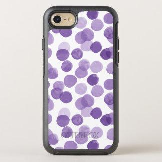 Funda OtterBox Symmetry Para iPhone 8/7 Modelo de puntos púrpura grande
