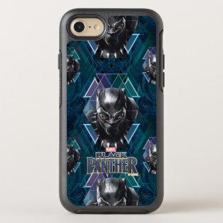 Funda OtterBox Symmetry Para iPhone 8/7 Modelo geométrico negro del carácter de la pantera