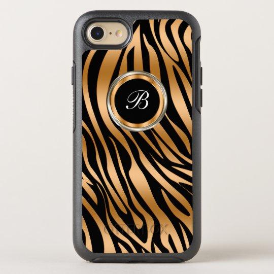 Funda OtterBox Symmetry Para iPhone 8/7 Monograma con clase de la cebra