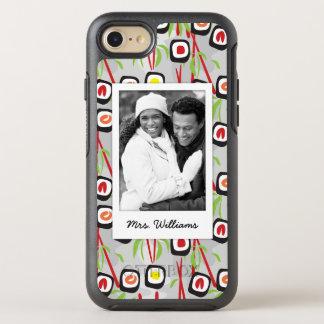 Funda OtterBox Symmetry Para iPhone 8/7 Monograma del modelo el | del diseño del sushi