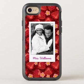 Funda OtterBox Symmetry Para iPhone 8/7 Monograma del modelo el | del flor de la fresa