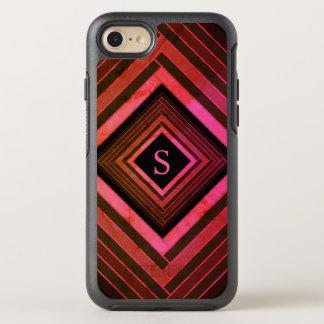 Funda OtterBox Symmetry Para iPhone 8/7 Monograma geométrico rosado rústico de los