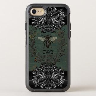 Funda OtterBox Symmetry Para iPhone 8/7 Monograma protector fresco de la abeja francesa