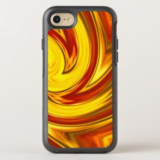 Funda OtterBox Symmetry Para iPhone 8/7 naranja ardiente abstracto del rojo del oro del