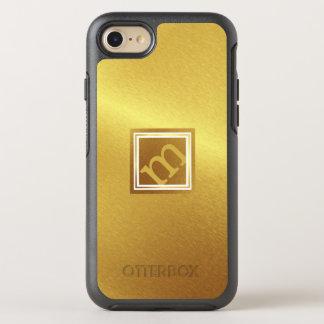 Funda OtterBox Symmetry Para iPhone 8/7 Oro cepillado lujo con el monograma anguloso