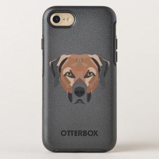 Funda OtterBox Symmetry Para iPhone 8/7 Perro Brown Labrador del ilustracion