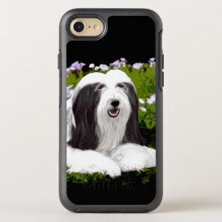 Funda OtterBox Symmetry Para iPhone 8/7 Pintura barbuda del collie - arte original lindo