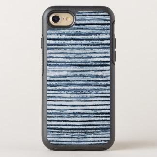 Funda OtterBox Symmetry Para iPhone 8/7 Rayas de la cebra de la acuarela en azul