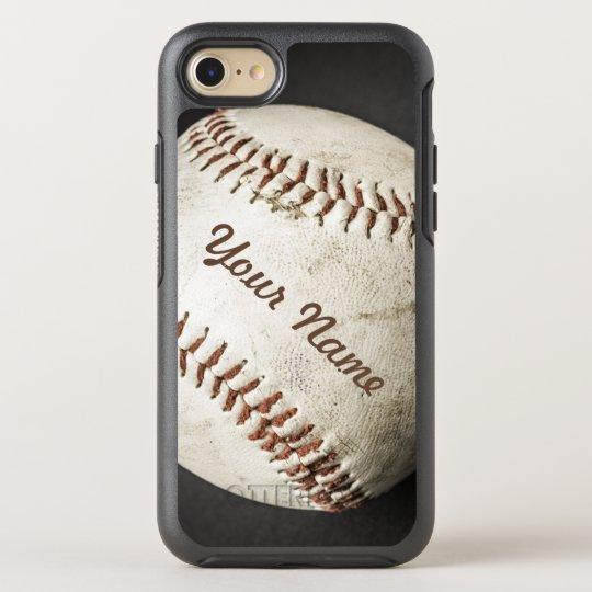 Funda OtterBox Symmetry Para iPhone 8/7 Teléfono deportivo del béisbol del vintage con su