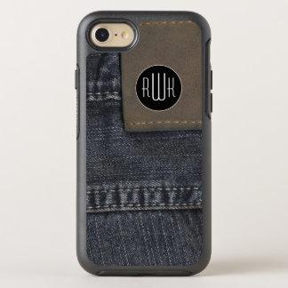 Funda OtterBox Symmetry Para iPhone 8/7 Textura de los vaqueros de las iniciales el  