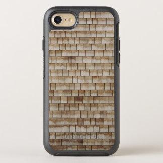 Funda OtterBox Symmetry Para iPhone 8/7 textura de madera beige de la pared del grunge