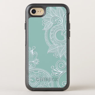 Funda OtterBox Symmetry Para iPhone 8/7 Trullo grabado en relieve Paisley de Boho