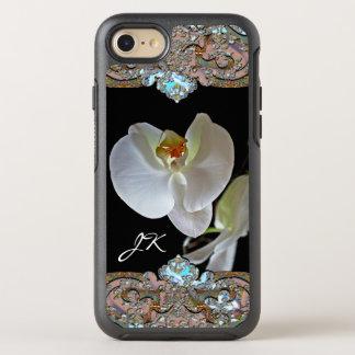 Funda OtterBox Symmetry Para iPhone 8/7 Único floral bonito del monograma de la orquídea