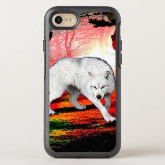Funda OtterBox Symmetry Para iPhone 8/7 White Wolf - lobo ártico - lobo americano