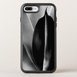 Funda OtterBox Symmetry Para iPhone 8 Plus/7 Plus Áloe - fotografía macra de la bella arte en negro