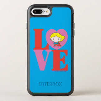 Funda OtterBox Symmetry Para iPhone 8 Plus/7 Plus AMOR de Chibi Supergirl
