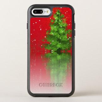 Funda OtterBox Symmetry Para iPhone 8 Plus/7 Plus Árbol de navidad en una caja roja del teléfono del