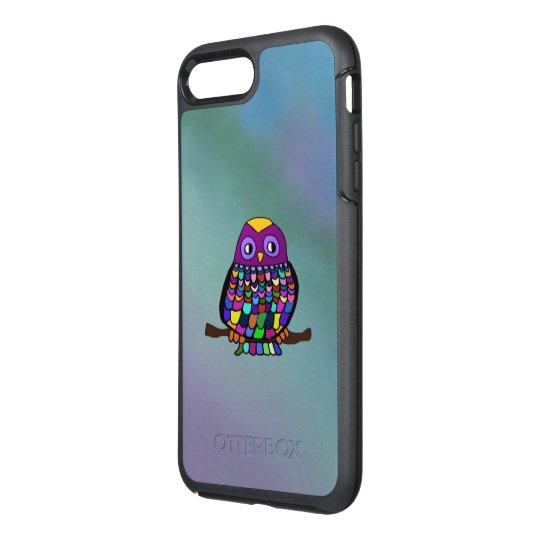 Funda OtterBox Symmetry Para iPhone 8 Plus/7 Plus Arco iris del búho
