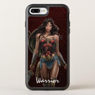 Funda OtterBox Symmetry Para iPhone 8 Plus/7 Plus Arte cómico Batalla-Listo de la Mujer Maravilla