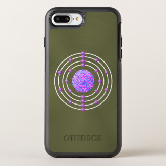 Funda OtterBox Symmetry Para iPhone 8 Plus/7 Plus Átomo Titanium con el fondo