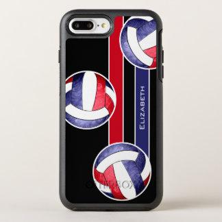 Funda OtterBox Symmetry Para iPhone 8 Plus/7 Plus azul blanco rojo del voleibol de las mujeres