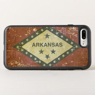 Funda OtterBox Symmetry Para iPhone 8 Plus/7 Plus Bandera patriótica gastada del estado de Arkansas