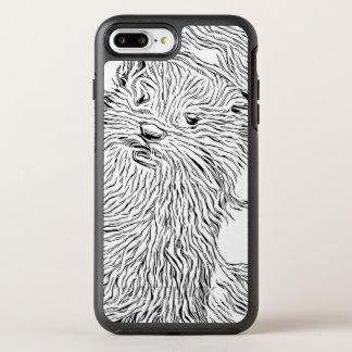 Funda OtterBox Symmetry Para iPhone 8 Plus/7 Plus Blanco y negro manchado de tinta - nutria