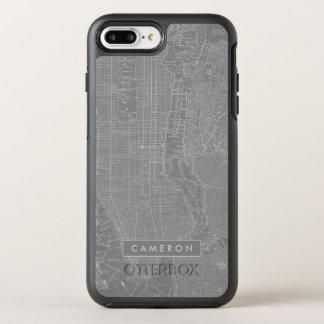 Funda OtterBox Symmetry Para iPhone 8 Plus/7 Plus Bosquejo del mapa de New York City